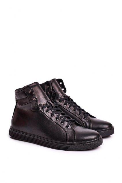 Čierna obuv kód topánok 306S BLK