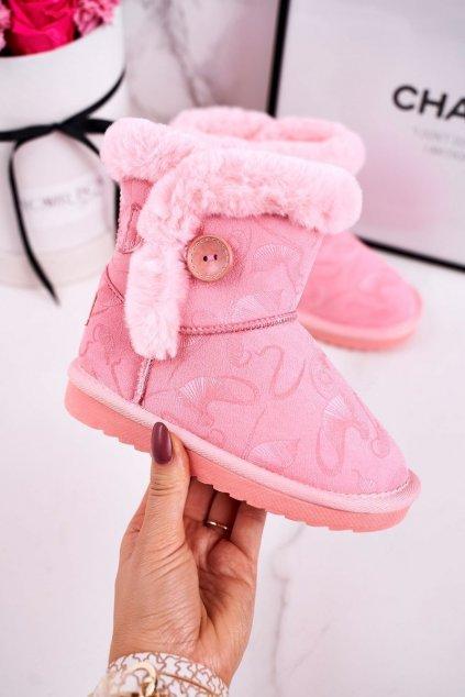 Detské snehule farba ružová kód obuvi N222/N223 PINK