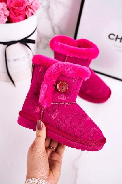Detské snehule farba ružová kód obuvi N222/N223 FUKSJA