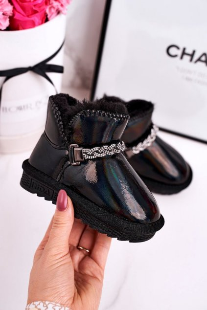 Detské snehule farba čierna kód obuvi ND49/ND50 BLACK