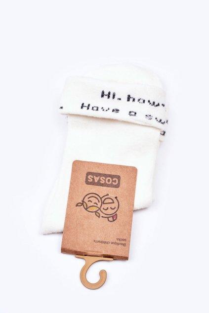 Detské ponožky farba biela kód LC10-2 WHITE
