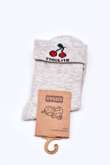 Detské ponožky farba sivá kód LC10-3 GREY