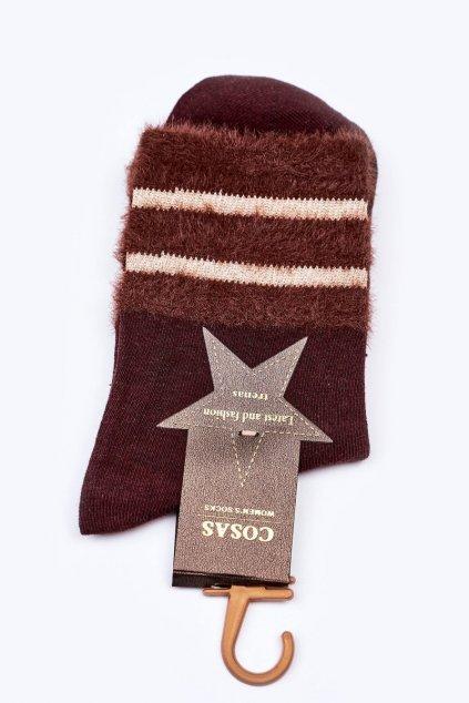 Dámske ponožky farba hnedá kód LM2-14 BROWN