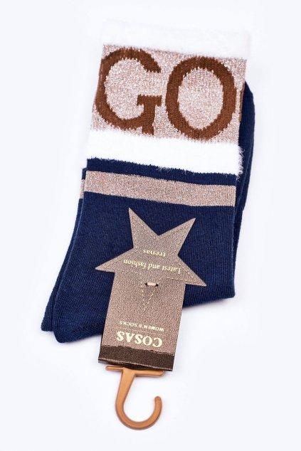 Dámske ponožky farba modrá kód LM2-10NAVY