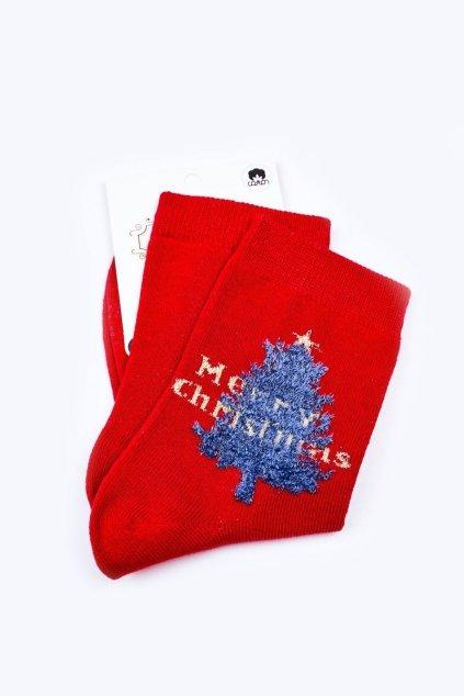 Pánske ponožky farba červená kód WJYC-94060 MERRY