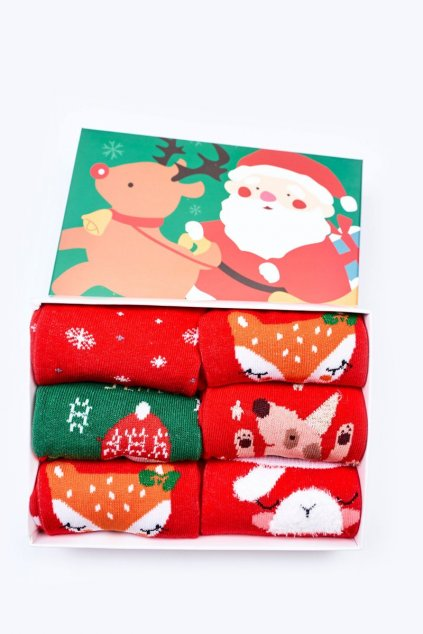 Detské ponožky farba zelená kód M519-6 1xGREEN