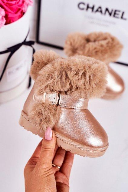 Detské snehule farba žltá kód obuvi 20221-1H CHAMPAGNE