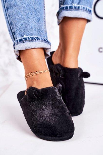 Dámske šľapky farba čierna kód obuvi KP01-4 BLACK