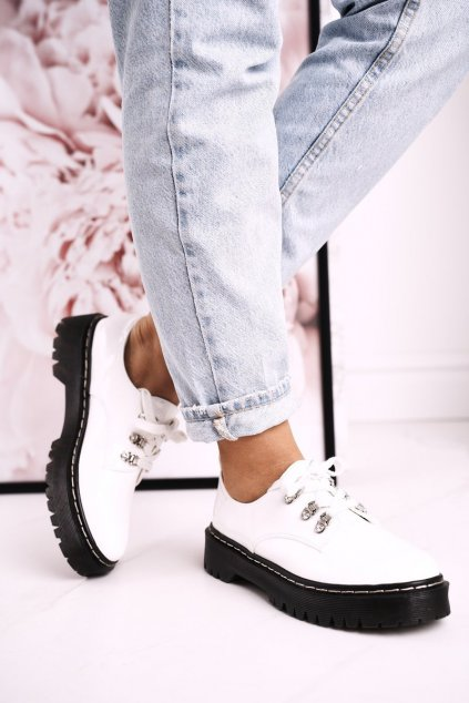 Dámske poltopánky farba biela kód obuvi HX15 WHITE