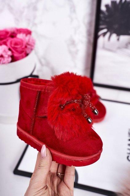 Detské snehule farba červená kód obuvi 602-2E RED