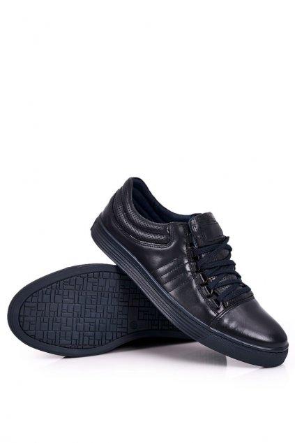 Pánske poltopánky farba modrá kód obuvi 305 NAVY
