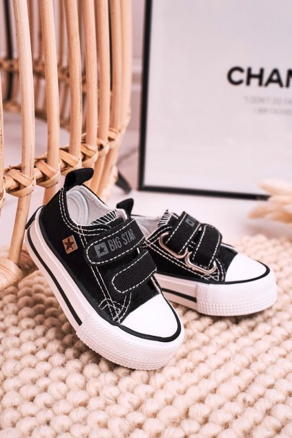 Detské tenisky farba čierna kód obuvi HH374096 BLACK