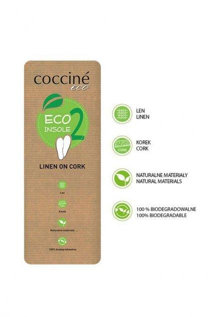Vložky do topánok stielky hnedá kód ECO LINEN ON CORK