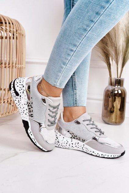 Dámske tenisky farba sivá kód obuvi BL215P SILVER