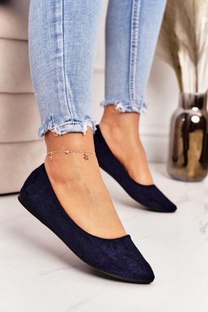 Dámske balerínky farba modrá kód obuvi CD52P / WD39 NAVY