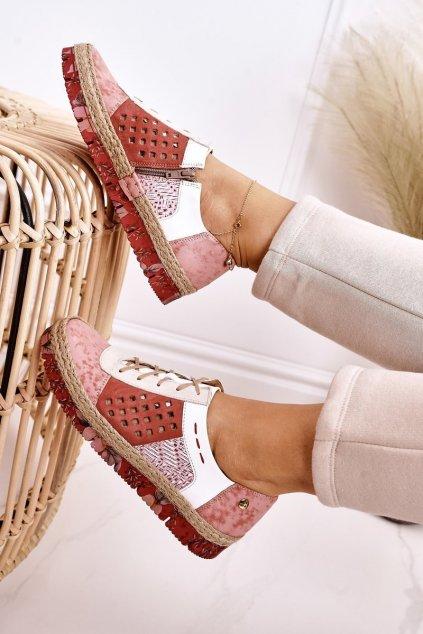 Dámske poltopánky farba ružová kód obuvi 03339-43/00-5 CORAL