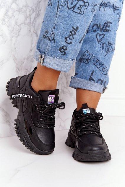 Dámske tenisky farba čierna kód obuvi 21SP26-3925 BLACK