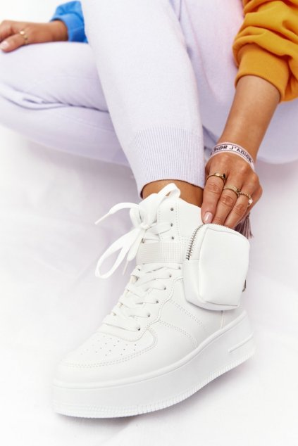 Dámske tenisky farba biela kód obuvi B0-687 WHITE