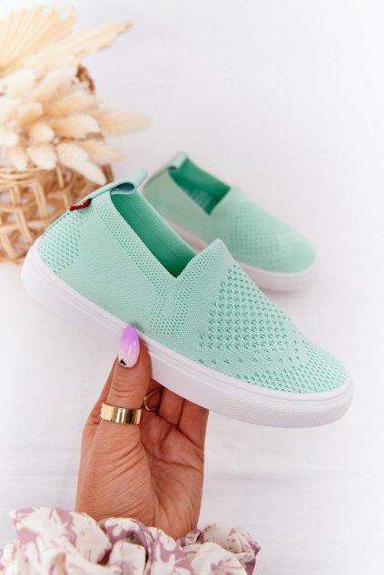 Detské tenisky farba zelená kód obuvi HH374101 MINT