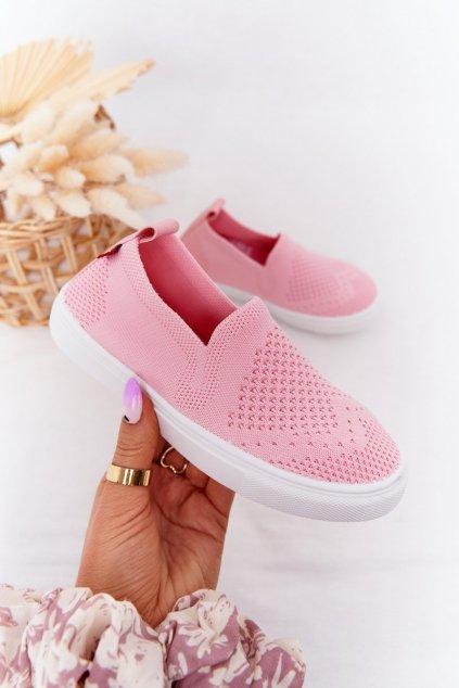 Detské tenisky farba ružová kód obuvi HH374103 PINK