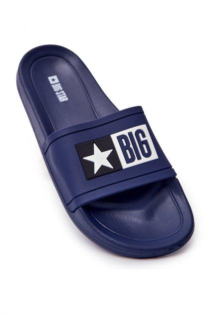 Pánske šľapky farba modrá kód obuvi DD174701 NAVY