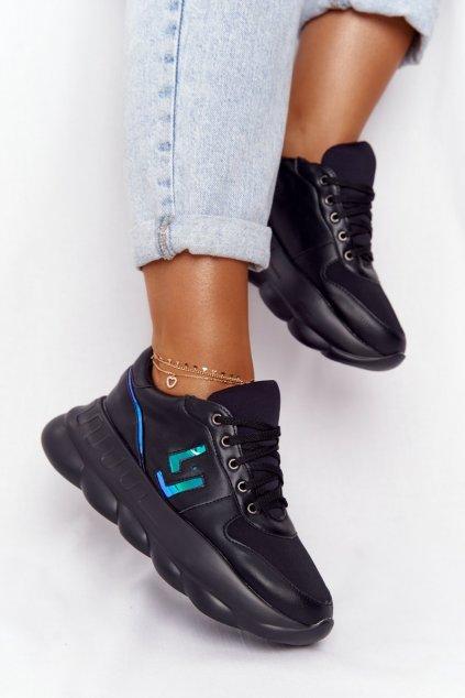 Dámske tenisky farba čierna kód obuvi 002-8 BLK