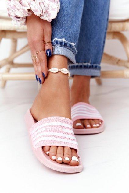 Dámske šľapky farba ružová kód obuvi FF274A352 PINK