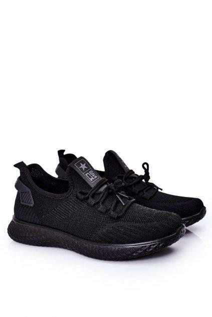 Čierna obuv kód topánok 21MN02-3634M BLACK