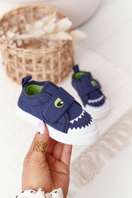 Detské tenisky farba modrá kód obuvi 21DZ26-3923 NAVY