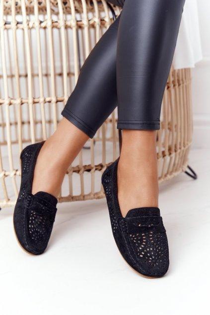Dámske mokasíny farba čierna kód obuvi LR92309 BLK
