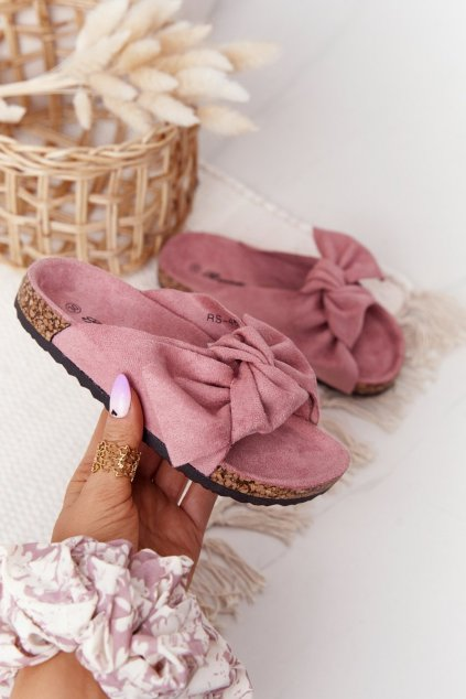 Detské šľapky farba ružová kód obuvi RS-46 BLUSH PINK