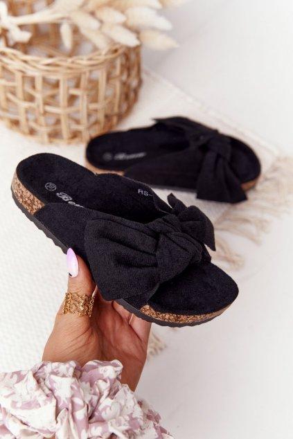 Detské šľapky farba čierna kód obuvi RS-46 BLK