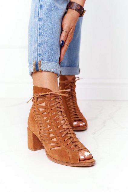 Členkové topánky na podpätku farba hnedá kód obuvi 04040-29/00-5 RUDY
