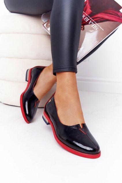 Dámske poltopánky farba čierna kód obuvi 05035-20/00-5 CZARNY