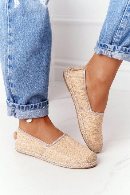 Dámske tenisky farba hnedá kód obuvi 2870-6 BEIGE