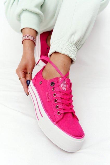 Dámske tenisky farba ružová kód obuvi HH274054 FUCHSIA