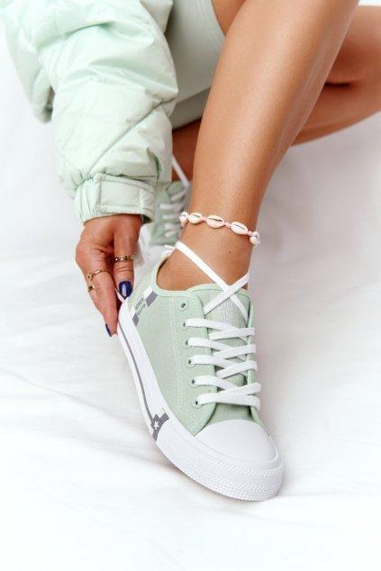 Dámske tenisky farba zelená kód obuvi HH274112 GREEN