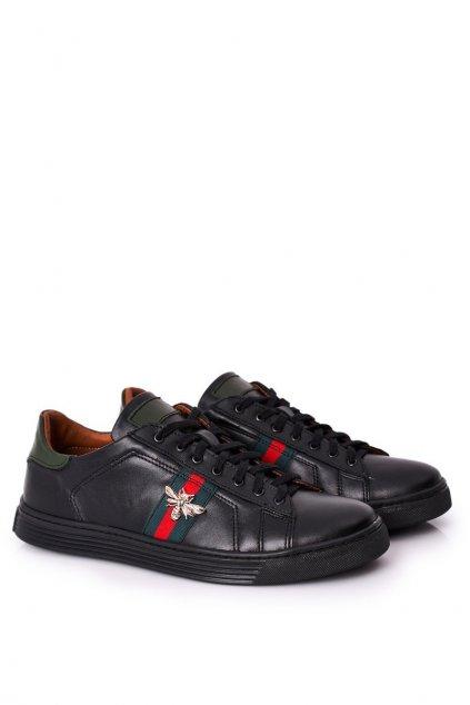 Pánske poltopánky farba čierna kód obuvi 293P BLACK