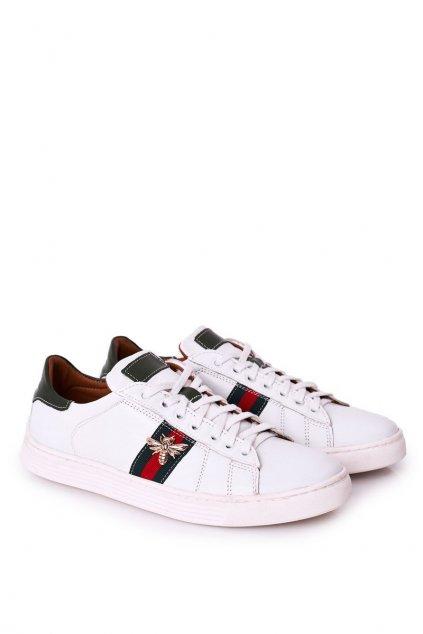 Pánske poltopánky farba biela kód obuvi 293P WHITE