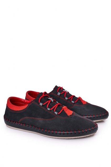Pánske poltopánky farba modrá kód obuvi 312 NAVY