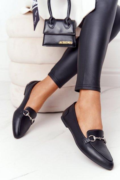 Dámske mokasíny farba čierna kód obuvi MK711 PU BLK