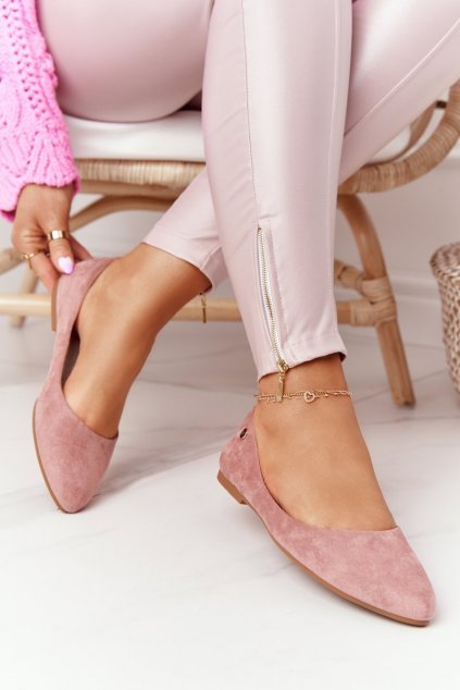 Dámske balerínky farba ružová kód obuvi BL622 PINK MIC
