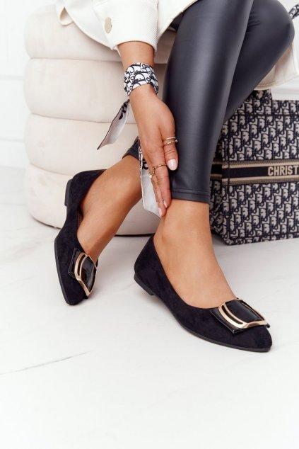 Dámske balerínky farba čierna kód obuvi BL623 BLK MIC