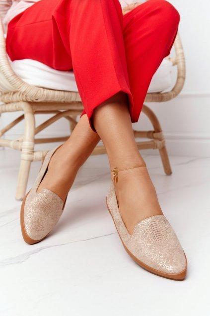 Dámske mokasíny farba hnedá kód obuvi MK700 BEIGE