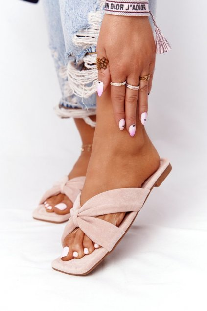 Dámske šľapky farba ružová kód obuvi XY05 PINK