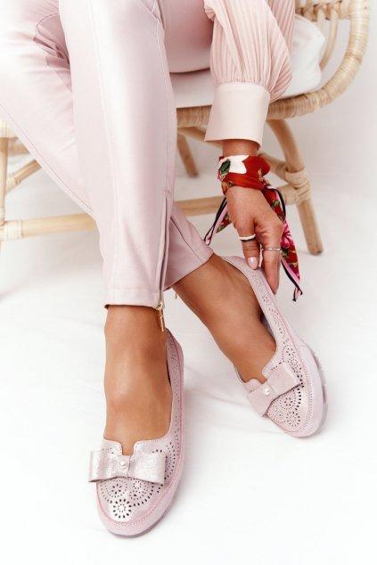 Dámske balerínky farba ružová kód obuvi OC-125N25-2 PINK