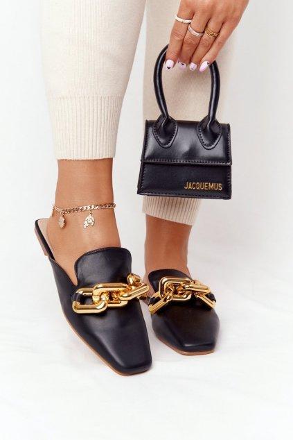 Dámske šľapky farba čierna kód obuvi T500 BLACK