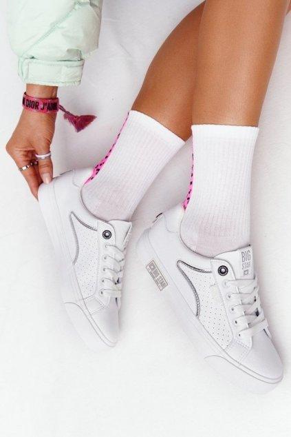 Dámske tenisky farba biela kód obuvi HH274075 WHITE/SILVER