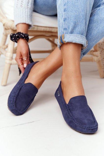 Dámske mokasíny farba modrá kód obuvi MH03AM-7 NAVY