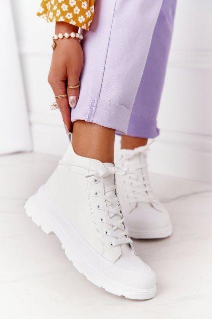 Dámske tenisky farba biela kód obuvi 800-S WHITE PU